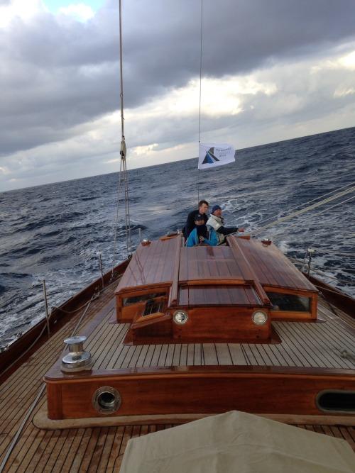 A bord de Blue Peter