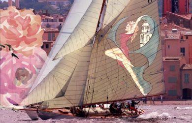 Dames de Saint-Tropez, 2017, affiche, la voile en rose, yachting classique, www.yachtingclassique.com