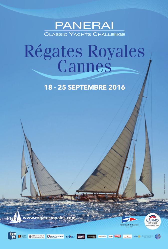Régates royales de Cannes 2016, affiche officielle, Cannes, Yachting classique, www.yachtingclassique.com