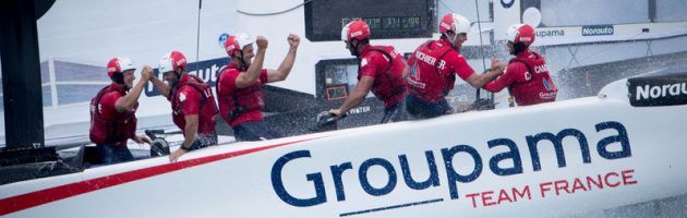 Groupama Team France, victoire Bermudes, america's cup, yachting classique, www.yachtingclassique.com