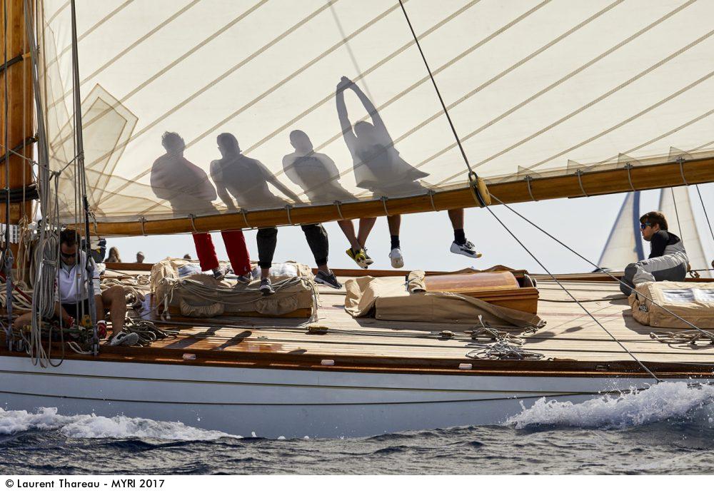 Hispañia,Voiles de Saint-Tropez, Laurent Thareau, 15MJI, Mirabaud Yachting racing image, yachting classique, www.yachtingclassique.com