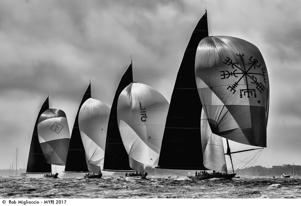 Svea, Ranger, Topaz et Velsheda, J Class World Championship Narragansett Bay, Rhode Island, USA, Rob Migliaccio, Mirabaud Yachting racing image, yachting classique, www.yachtingclassique.com