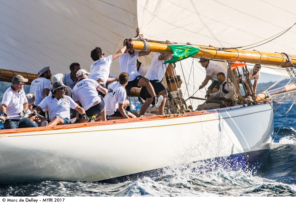 Marc de Delley. Tuiga & Hispania Voiles de Saint-Tropez. Mirabaud Yacht Racing Image, www.yachtingclassique.com