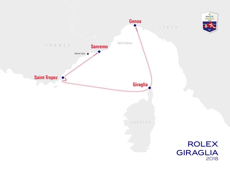 Giraglia Rolex cup, 2018, parcours, yachting classique, www.yachtingclassique.com