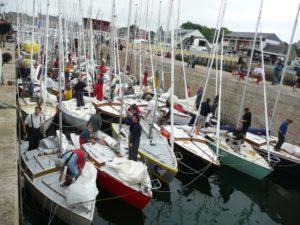 Ecluse voilier, voilier Corsaire, passage écluse voilier, yachting classique