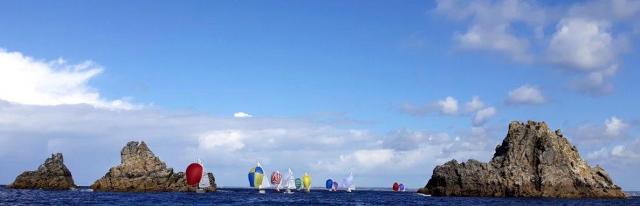 Coesaire sous spi, national Corsaire 2018, yachting Classique
