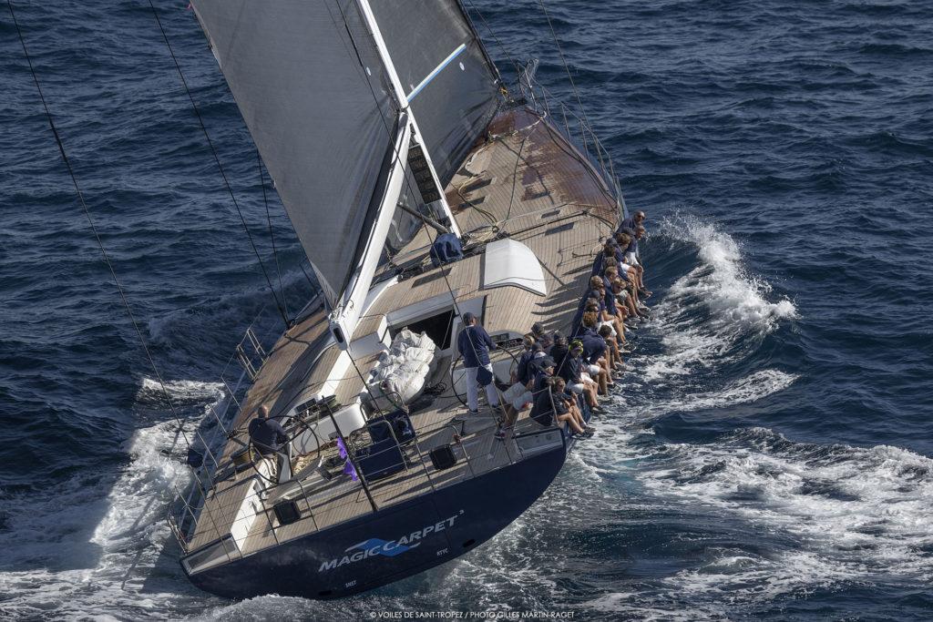 Magic Carpet3, voilier Wally, yachting classique Voiles de Saint Tropez 2018