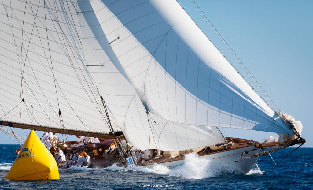 Moonbeam IV, Régates royales de Cannes 2018, yachting Classique, voilier big boat