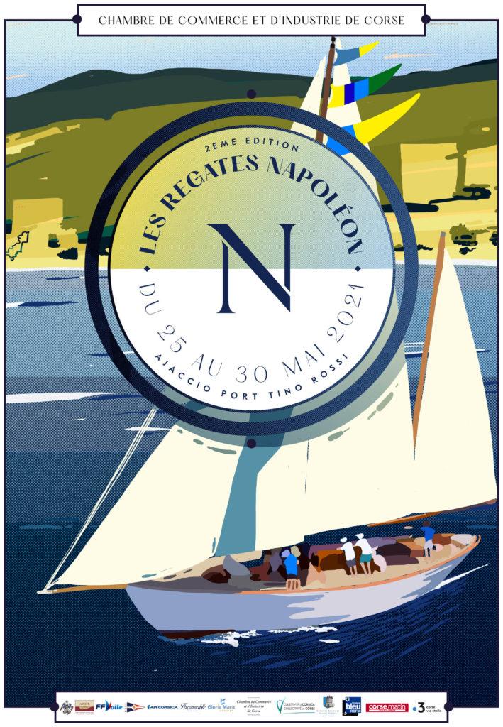 affiche officielle des Régates Napoléon mai 2021